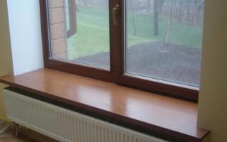 Виды подоконников для пластиковых окон