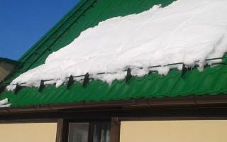 Самодельные снегозадержатели на крышу своими руками